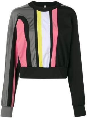 NO KA 'OI No Ka' Oi cropped colour block sweatshirt