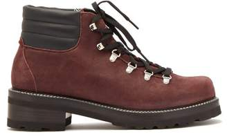 Montelliana - Tom Lace Up Suede Boots - Mens - Burgundy