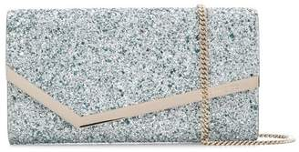 Jimmy Choo glitter clutch bag
