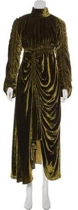 Preen by Thornton Bregazzi Velvet Maxi Dress