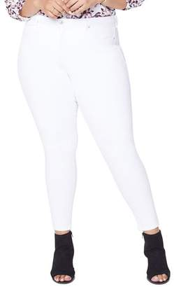 ce323dab236 NYDJ Plus Ami Skinny Ankle Jeans in Optic White