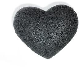 One Love Organics The Cleansing Sponge Bamboo Charcoal Heart