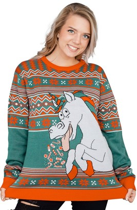 Ugly Sweater Company Ugly Christmas Sweater Unicorn Candy & Star Dust Sweater