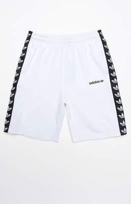 adidas TNT Tape White & Black Active Drawstring Shorts