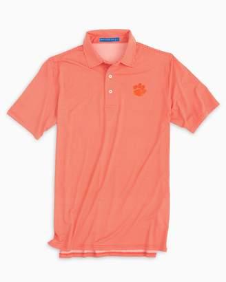 0b3fbbc2 Southern Tide Clemson Tigers Plaid Polo Shirt