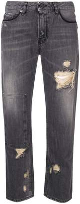 Diesel Black Gold cropped straight leg jeans
