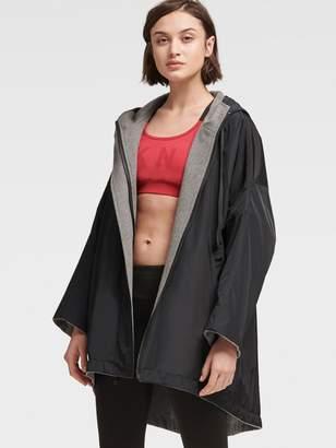 DKNY Reversible Logo Swing Jacket With Hood