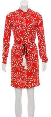 Diane von Furstenberg Silk Button-Up Dress