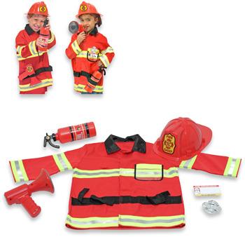 Melissa & Doug Firefighter Role Play Costume Set