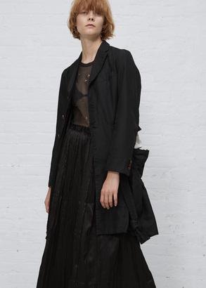 Comme des Garcons black bow double strap lifted coat $2,228 thestylecure.com