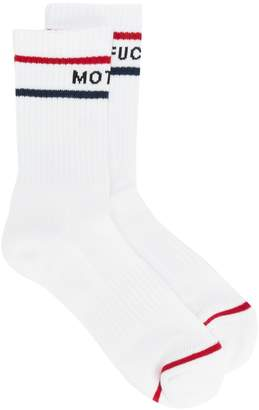 Mother ribbed ankle socks