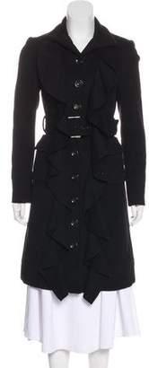 Diane von Furstenberg Ruffled Wool-Blend Coat