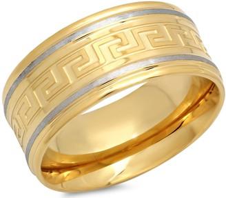 Forza Men's Stainless Greek Key Band Ring