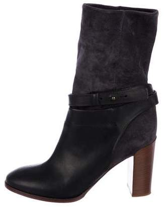 Vince Suede Mid-Calf Boots