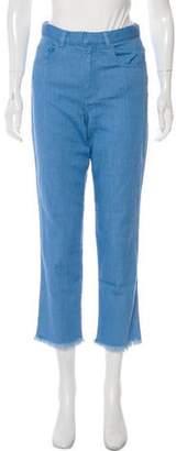 Marques Almeida Marques' Almeida High-Rise Straight-Leg Jeans w/ Tags