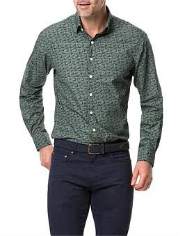 Rodd & Gunn Tennyson Inlet Long Sleeve Shirt Khaki