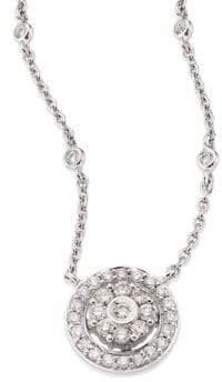 Hueb Flower Diamond& 18K White Gold Pendant Necklace