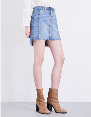 Paige Denim Adrian high-rise denim skirt $285 thestylecure.com