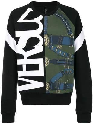 Versus logo print jersey sweater