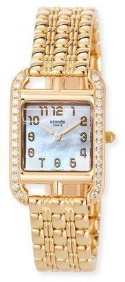 Hermes Cape Cod 18k Yellow Gold & Diamond Watch