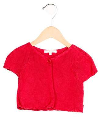 Chloé Girls' Cropped Short Sleeve Cardigan