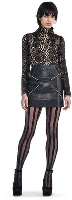 "Alexander Wang Mini Skirt With ""X"" Zipper Detail"