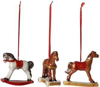 Villeroy & Boch Rocking Horse Decorations (Set of 3)