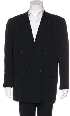 Issey Miyake Double-Breasted Wool Blazer