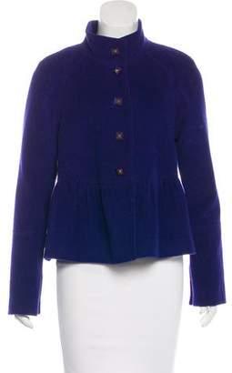 Rebecca Taylor Wool Mock Collar Jacket
