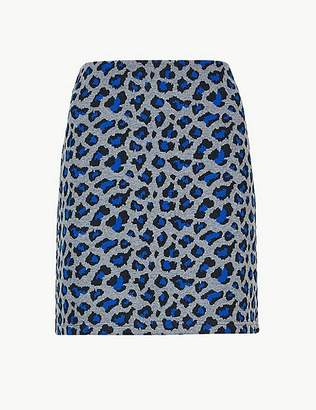 Marks and Spencer Animal Print Jersey A-Line Mini Skirt