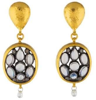 Gurhan Venus Moonstone & Diamond Drop Earrings