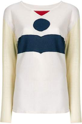 Etoile Isabel Marant colour-block long sleeve T-shirt