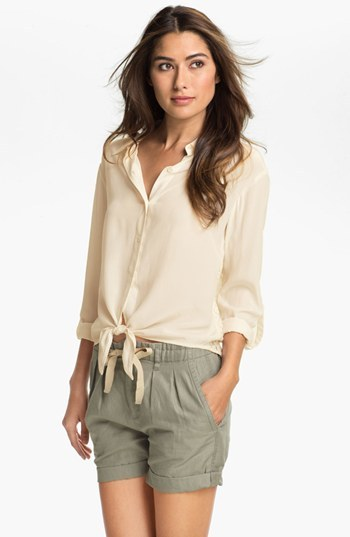 Vince Camuto Two by Lace Back Shirt (Petite)