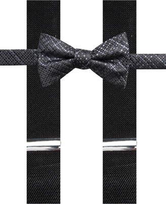Alfani Men Plaid Pre-Tied Bow Tie & Suspender Set