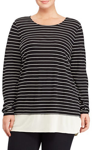 Lauren Ralph Lauren Lauren Ralph Lauren Plus Shianda Striped Top