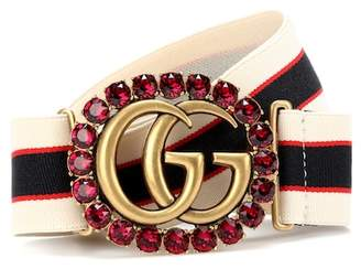 Gucci Double G striped belt
