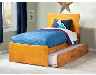 8876b3fe410d8 Atlantic Furniture Metro Twin Platform Bed with Matching Foot Board with Twin  Size Urban Trundle Bed