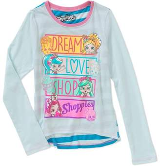 Love Shop Shoppies Girls' Dream Long Sleeve Scoop Neck Graphic Tee