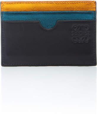 Loewe Rainbow Plain Leather Card Holder