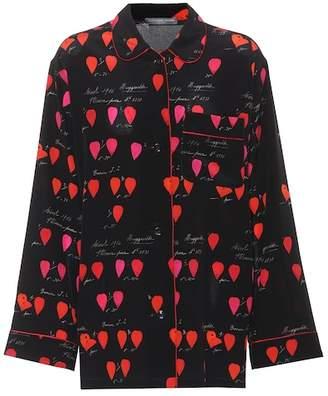Alexander McQueen Printed silk shirt