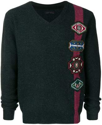 Frankie Morello patch embellished sweater