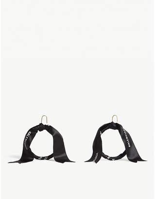 Balenciaga Tape logo hoop earrings