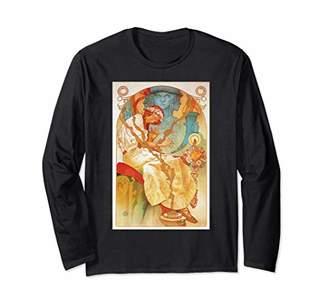 Art Nouveau Slav Epic Mucha Sexy Beautiful Elegant Women Long Sleeve T-Shirt