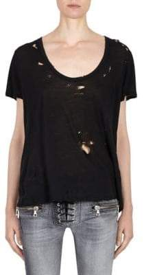 Taverniti So Ben Unravel Project Distressed Jersey Tee