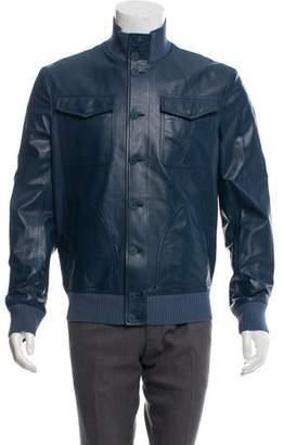 Bottega Veneta Button-Up Leather Jacket