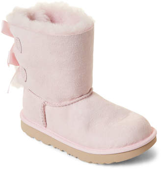 UGG Toddler Girls) Bailey Bow II Real Fur Tall Boots