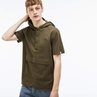 Lacoste Men's LIVE Hooded Interlock Sweatshirt