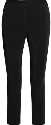 Rosetta Getty Cropped Stretch-cady Slim-leg Pants - Black