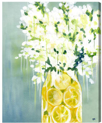 Willa Arlo Interiors 'Limoncello Floral and Botanical Art' Wrapped Canvas Print