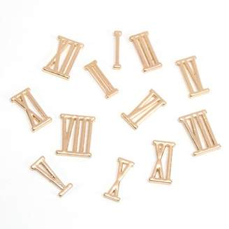 All Things You DIY Clock Numbers: Gold Metal Roman Numeral Numbers